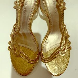Gianna Bini Gold Heels